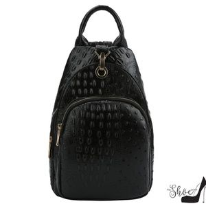 My Bag Lady Online Bags - Sling Backpack in Leopard or Black